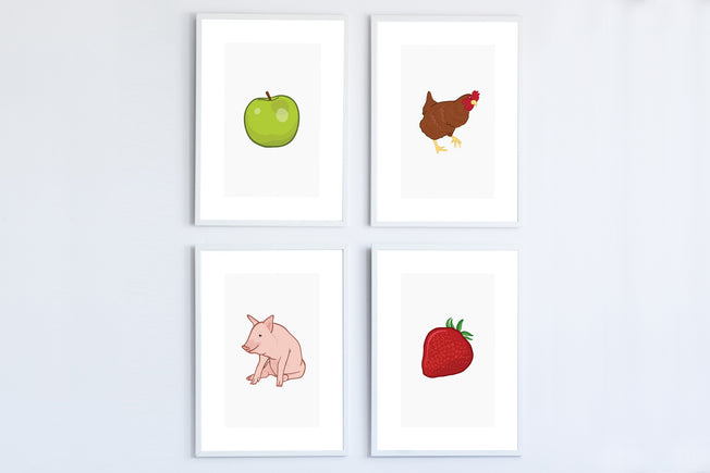 Four-Pack Farm Posters