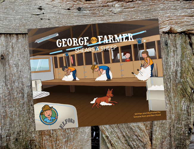 George the Farmer Shears a Sheep Picture Book