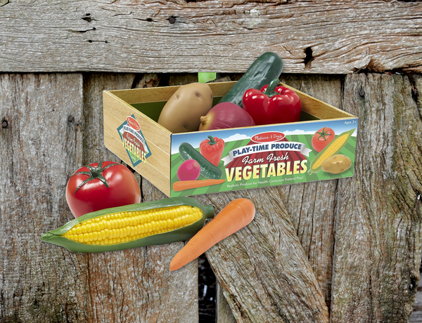 Melissa & Doug Play Time Vegetables 7 Pieces