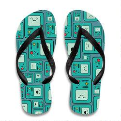 Adventure Time Beemo All Over Flip Flops