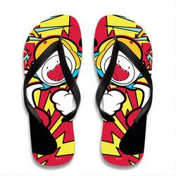 Adventure Time Comic Art Flip Flops