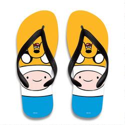 Adventure Time Jake and Finn Flip Flops