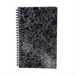 Adventure Time Finn Black and White Print Notebook