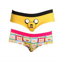 Adventure Time Jake Face and Pop Art Finn Jake Panty Two Pack Set