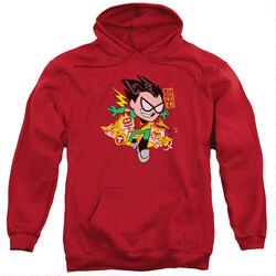 Teen Titans Go Robin Adult Red Hoodie
