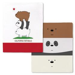 We Bare Bears California Republic Stack Fleece Throw Blanket