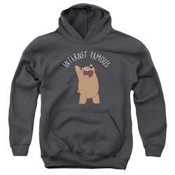 We Bare Bears Internet Famous Youth Charcoal Hoodie