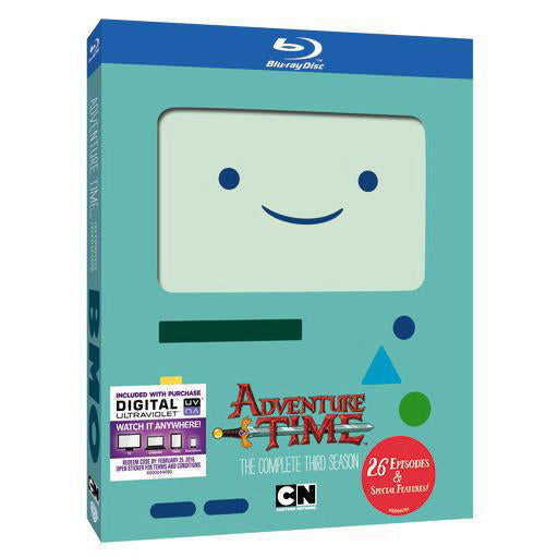 Adventure Time The Complete Third Season Blu-ray, Digital Copy Combo Pack