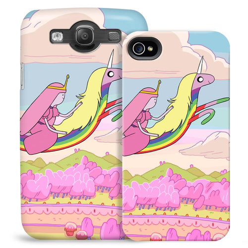 Image of Adventure Time Princess Bubblegum and Lady Rainicorn Phone Case for iPhone and Galaxy