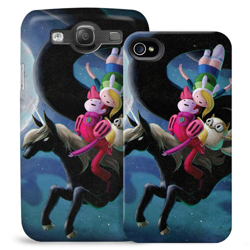 Image of Adventure Time Fionna and Cake at Night Phone Case for iPhone and Galaxy
