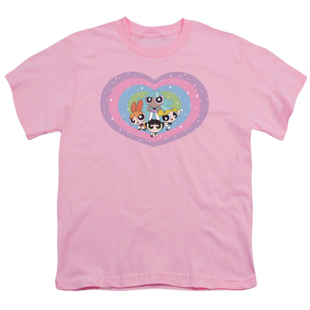 58cb7d0fd Powerpuff Girls Group Heart Youth Pink T-shirt