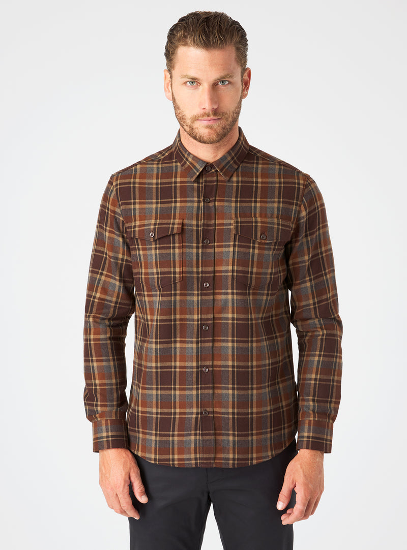 Gunnar Double Pocket Flannel Shirt
