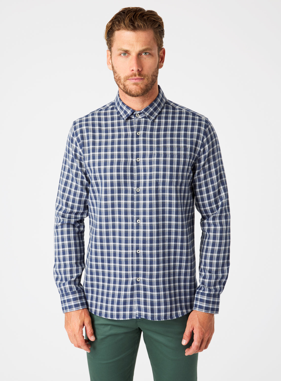 Colton Single Pocket Flannel Shirt