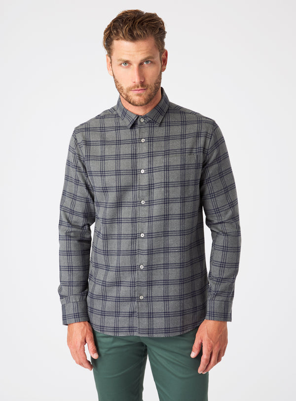 Kaine Single Pocket Flannel Shirt