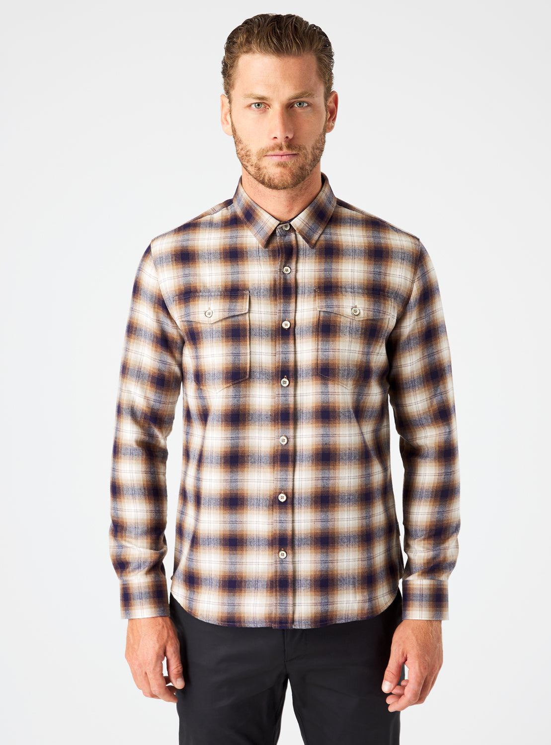 Parker Double Pocket Flannel Shirt