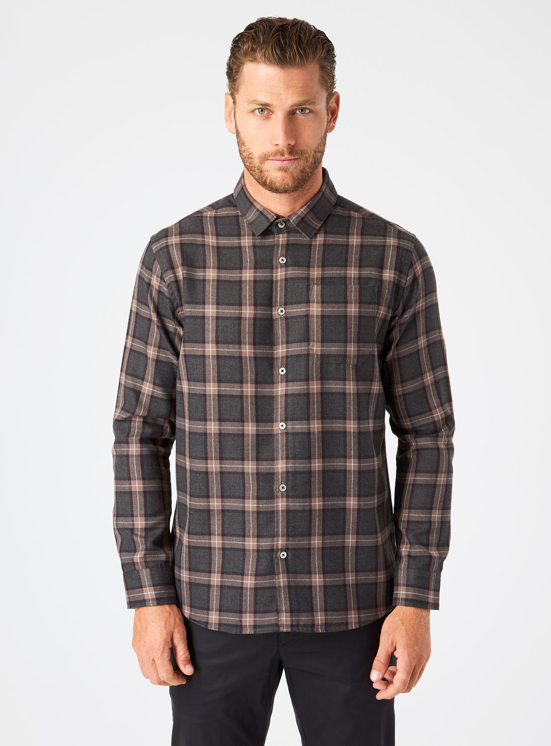 River Single Pocket Flannel Shirt