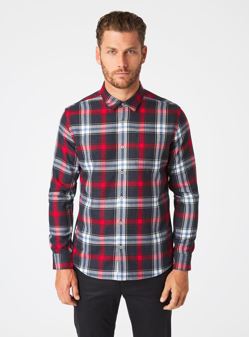 Austin Single Pocket Flannel Shirt