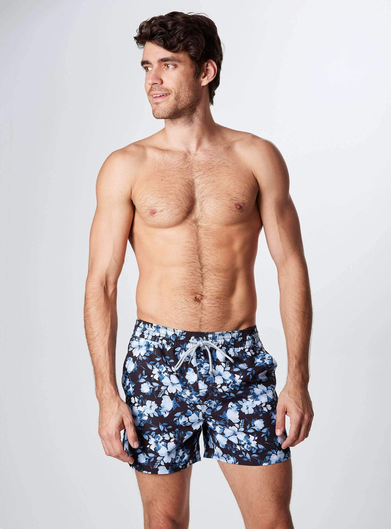 Glacial Garden Printed Swim Shorts, Swim Trunks-7DIAMONDS