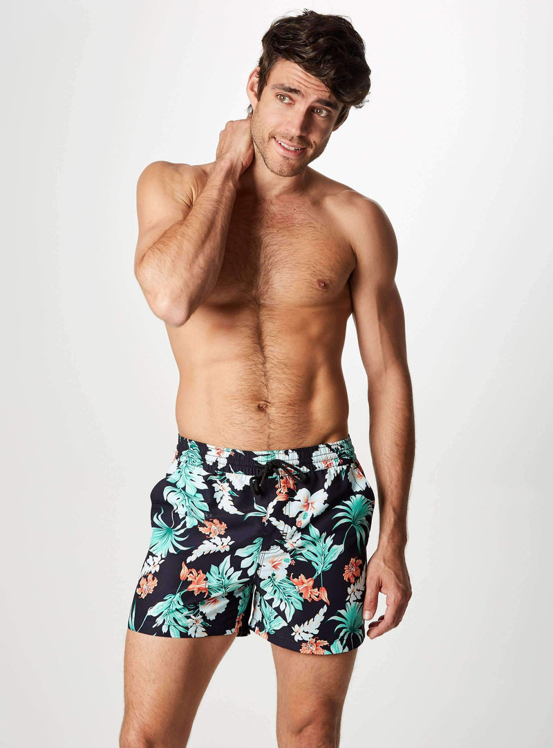 North Shore Printed Swim Shorts,Swim Trunks,7Diamonds,7Diamonds