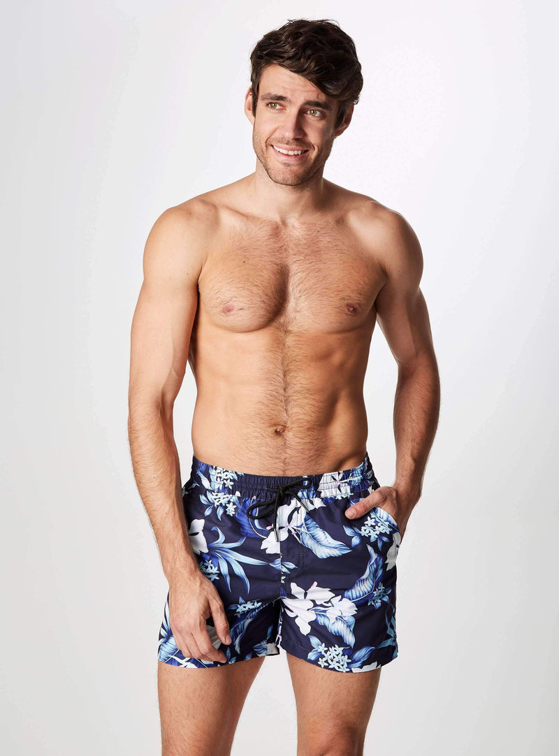Ocean Breeze Printed Swim Shorts,Swim Trunks,7Diamonds,7Diamonds