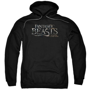 FANTASTIC BEASTS AND WHERE TO FIND THEMÖ Film Logo Adult Black Hoodie