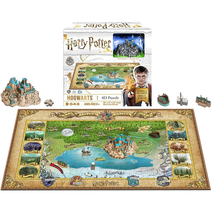 Harry Potter Hogwarts Mini 4D Puzzle