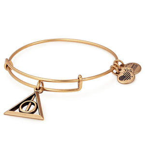 ALEX AND ANI Deathly Hallows Expandable Wire Bangle Gold