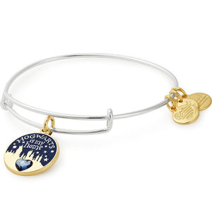 ALEX AND ANI Harry Potter Hogwarts is My Home Two Tone Charm Bangle