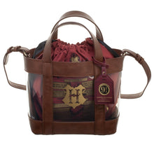Harry Potter Hogwarts Clear Handbag with Cinch Bag
