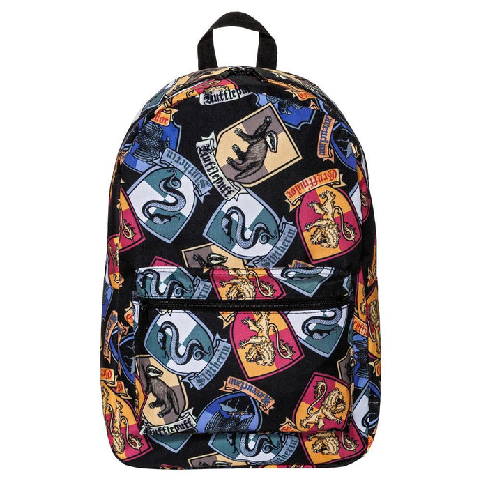 Harry Potter Hogwarts Crest Allover Print Backpack