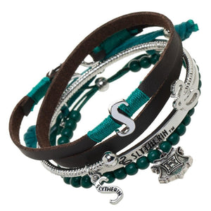 Harry Potter Slytherin Bracelet Set