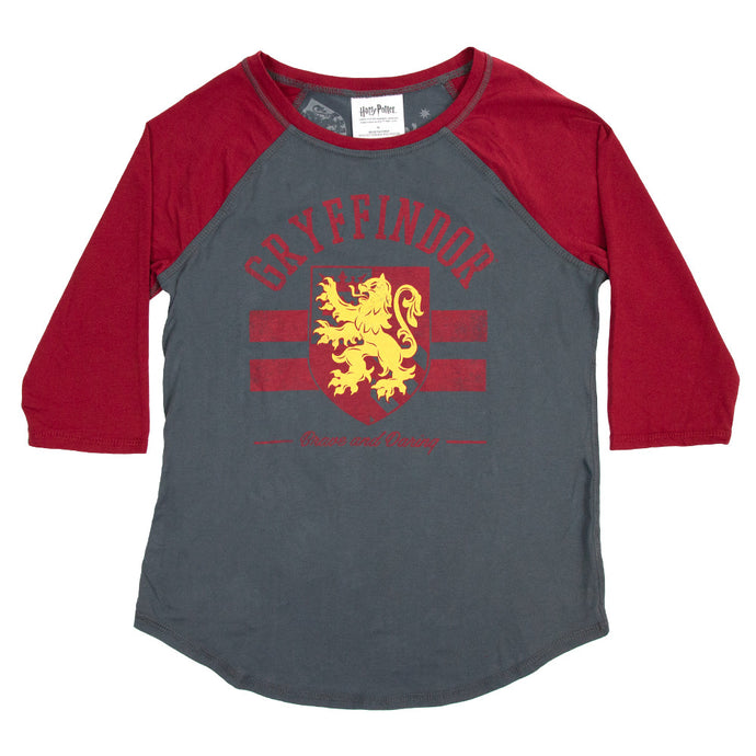 Harry Potter Gryffindor Juniors Raglan T-shirt