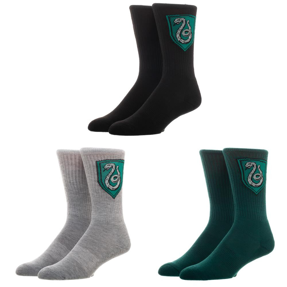 Harry Potter Slytherin 3-Pack Crew Socks Set