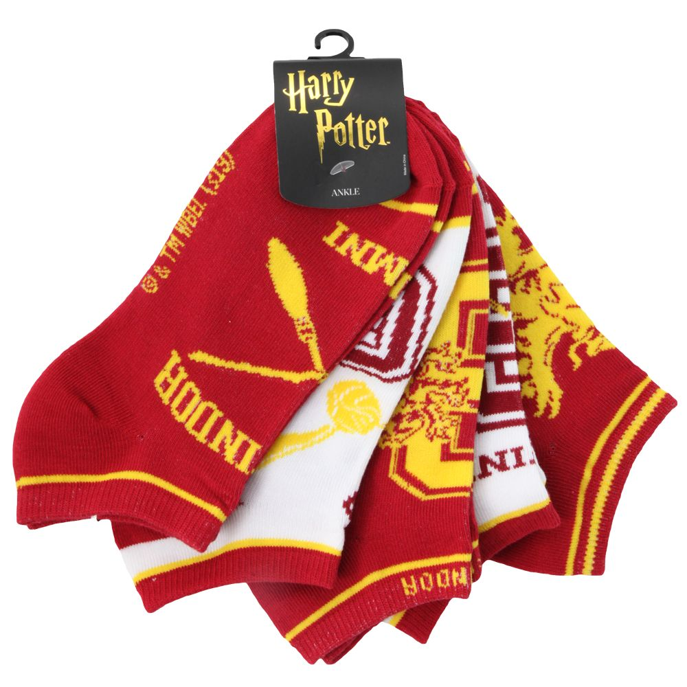 Harry Potter Gryffindor Juniors Ankle Socks Five-Pack