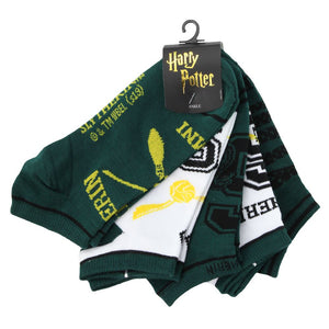 Harry Potter Slytherin Juniors Ankle Socks Five-Pack