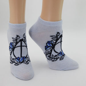 Harry Potter Hogwarts Juniors Ankle Socks Three-Pack