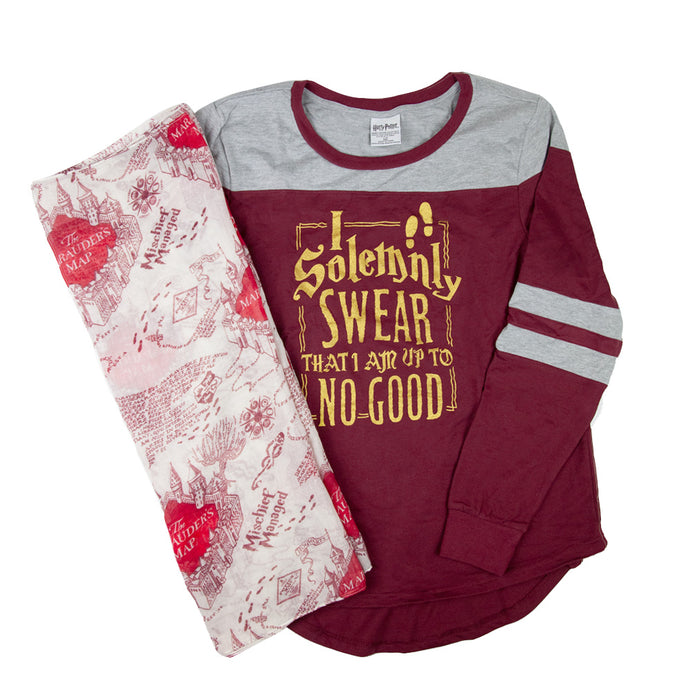 Harry Potter I Solemnly Swear That I Am up to No Good™ Juniors Raglan T-shirt & Scarf Set