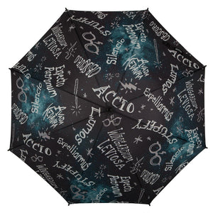 Additional image of Harry Potter Spells & Wand Molded Handle Umbrella