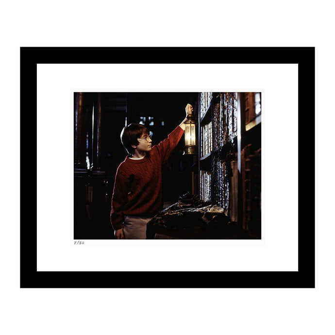 Harry Potter in the Restricted Section of the Library Framed Print from Harry Potter and the Sorcerer's Stone