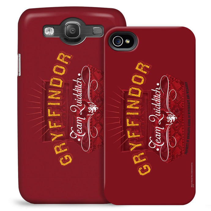 Quidditch Chest and Gryffindor Team Logo Phone Case for iPhone and Galaxy