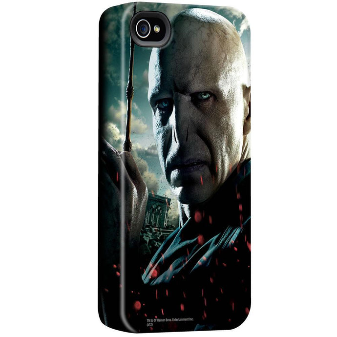 Voldemort Close Up with Wand iPhone Case
