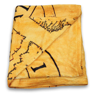 Additional image of Marauder's Map/Solemnly Swear Fleece Throw Blanket
