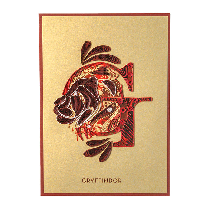 Harry Potter Gryffindor Crest Quilled Card
