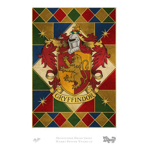 Gryffindor House Crest Art Standard Limited Edition Print by MinaLima