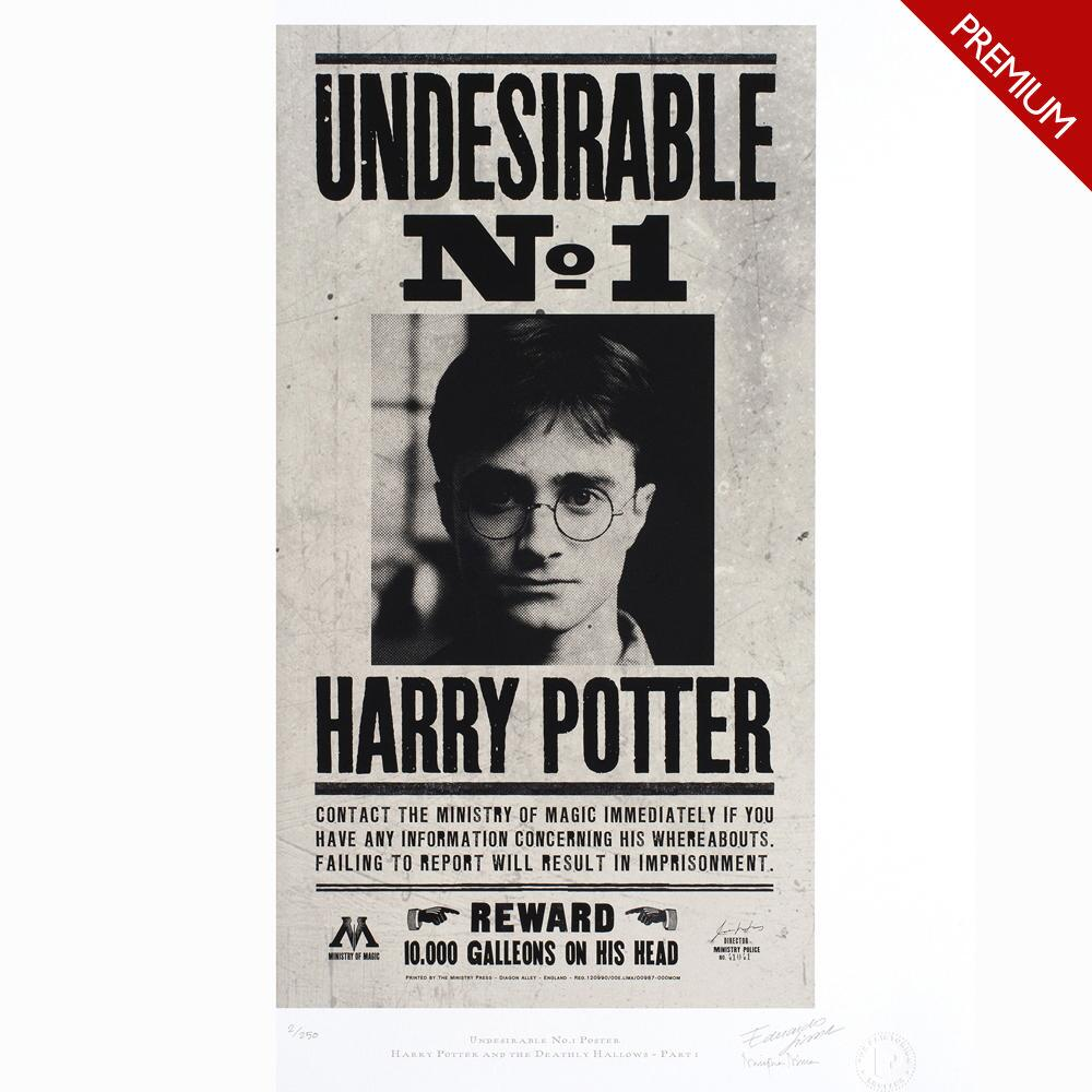 Undesirable No. 1 Art Premium Limited Edition Print by MinaLima