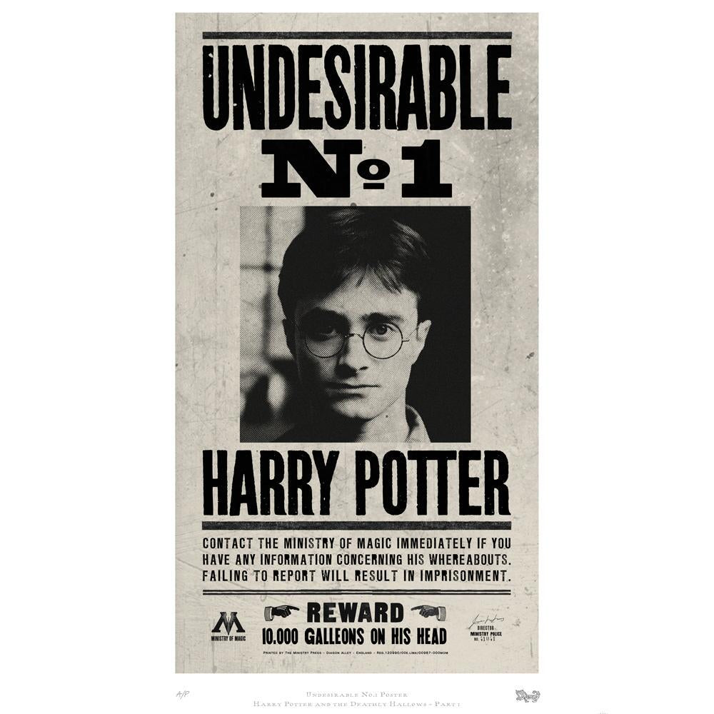 Undesirable No. 1 Art Standard Limited Edition Print by MinaLima