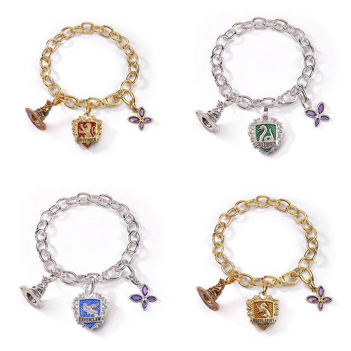 Hogwarts Houses Lumos Charm Bracelet Set by Noble Collection