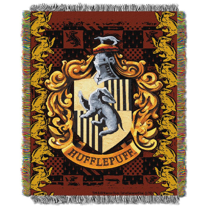 Exclusive Hufflepuff Crest Tapestry Throw