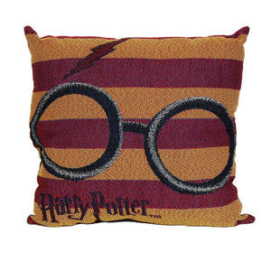 Harry Potter Glasses and Lightning Bolt Woven Tapestry Pillow