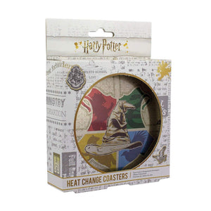 Harry Potter Sorting Hat Heat Change Coasters
